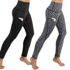 Yoga Sport Pants ,High Waist Tummy Control Workout Women Yoga Leggings with Pockets(Black/S-XL) - Code Interno: 418