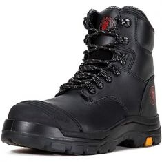 ROCKROOSTER Work Boots for Men, 8 inch, Steel Toe, Slip Resistant Safety Oiled Leather Shoes, Static Dissipative, Breathable, Quick Dry, Anti-Fatigue, AK245-12 - Code Interno: 729
