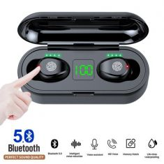Wireless Earbuds, Bluetooth 5.0 Earphones IPX7 Waterproof Noise Cancelling in-Ear Headphones with Mic, Touch Control, 2000Amh Charging Case, Hi-Fi Sound for iPhone Android - Code Interno: 908