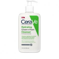 CeraVe Hydrating Cream-to-Foam Cleanser, Makeup Remover and Face Wash, with Hyaluronic Acid, Fragrance Free, 12 fl oz - Code Interno: 221
