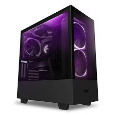 NZXT H510 Elite - CA-H510E-B1 - Premium Mid-Tower ATX Case PC Gaming Case - Dual-Tempered Glass Panel - Front I/O USB Type-C Port - Vertical GPU Mount - Integrated RGB Lighting - Black - Code Interno: 364