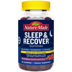 Nature Made Sleep and Recover with Melatonin 3mg, L-theanine 200mg, Magnesium 100mg, 60 Count for Supporting Restful Sleep to Help Your Body's Natural Recovery - Code Interno: 539