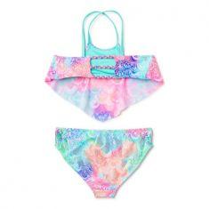 Wonder Nation Girls Halter Flounced Bikini Swimsuit, 4-16 - Code Interno: 867