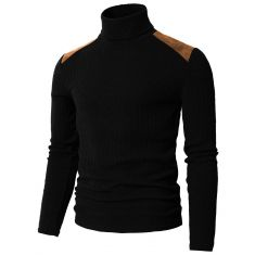 H2H Mens Slim Fit Turtleneck Pullover Sweaters Basic Tops Knitted Thermal - Code Interno: 743