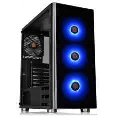 Thermaltake V200 Tempered Glass RGB Edition 12V MB Sync Capable ATX Mid-Tower Chassis with 3 120mm 12V RGB Fan + 1 Black 120mm Rear Fan Pre-Installed CA-1K8-00M1WN-01 - Code Interno: 594