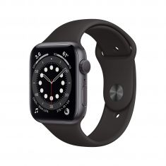 New Apple Watch Series 6 (GPS, 44mm) - Space Gray Aluminum Case with Black Sport Band - Code Interno: 231