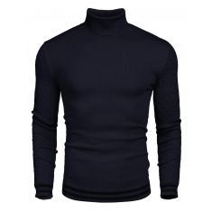 COOFANDY Men's Basic Ribbed Thermal Knitted Pullover Slim Fit Turtleneck Sweater - Code Interno: 682
