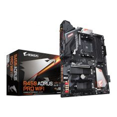 GIGABYTE B450 AORUS PRO WIFI (AMD Ryzen AM4/M.2 Thermal Guard with Onboard WIFI/HDMI/DVI/USB 3.1 Gen 2/DDR4/ATX/Motherboard) - Code Interno: 188