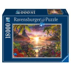 Ravensburger Paradise Sunset 18,000 Piece Jigsaw Puzzle for Adults – Softclick Technology Means Pieces Fit Together Perfectly - Code Interno: 122