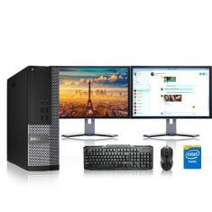 Refurbished - Dell Optiplex Desktop Computer 2.8 GHz Core i7 Tower PC, 16GB, 2TB HDD, Windows 10 x64, 19  Dual Monitor , USB Mouse & Keyboard - Code Interno: 728