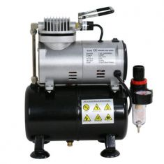 Zeny 1/5 HP Airbrush Air Compressor Kit w/ 3L Tank & 6FT Hose Multipurpose for Hobby Paint Cake Tattoo - Code Interno: 344